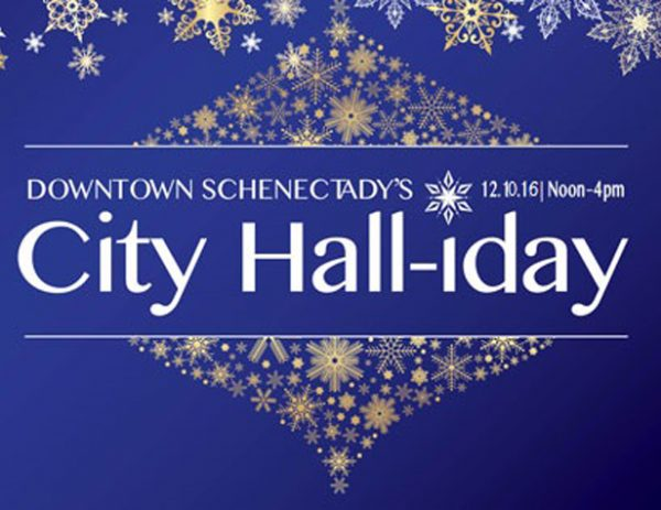 Downtown Schenectady's City Hall-iday 2016
